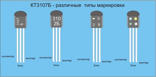 Транзисторы КТ361,КТ3107 - маркировка и цоколевка,основные параметры.