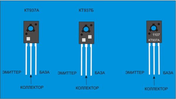 Транзисторы КТ827 и КТ973 - маркировка, цоколевка, основные параметры.