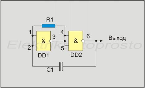 Схема генератора прямоугольных