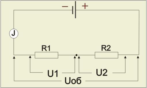 соединении элементов цепи