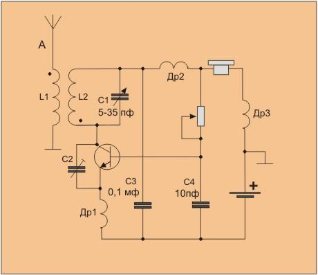 Транзистор V1 работает в