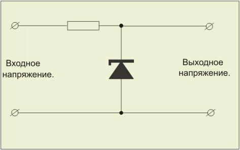 Схема параметрического стабилизатора.